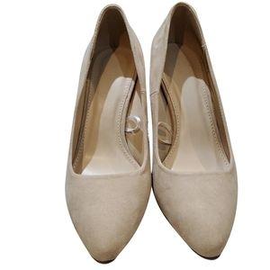 Forever 21 beige seude heels
